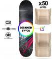 Pacote 50 placas de skate personalizado