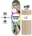 Pacote de 40 placas skate personalizado