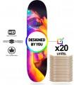 Confezione 20 skate personalizzati tavole