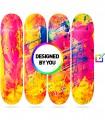 Murale 4 Planches Skate personnalisées