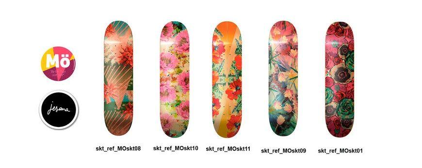 Modernaked, diseños en tabla de skate para chicas