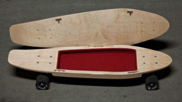 Skate con compartimentos, guarda tu teléfono y más...