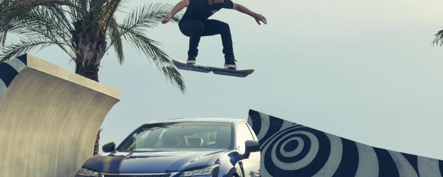 Cómo se rodó el anuncio de Lexus, skateboard volador con nitrógeno líquido