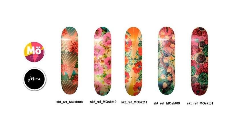 Designs modernos de pranchas de skate para meninas