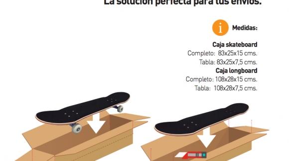 Cajas para skateboard y longboard. CARTON BOARD