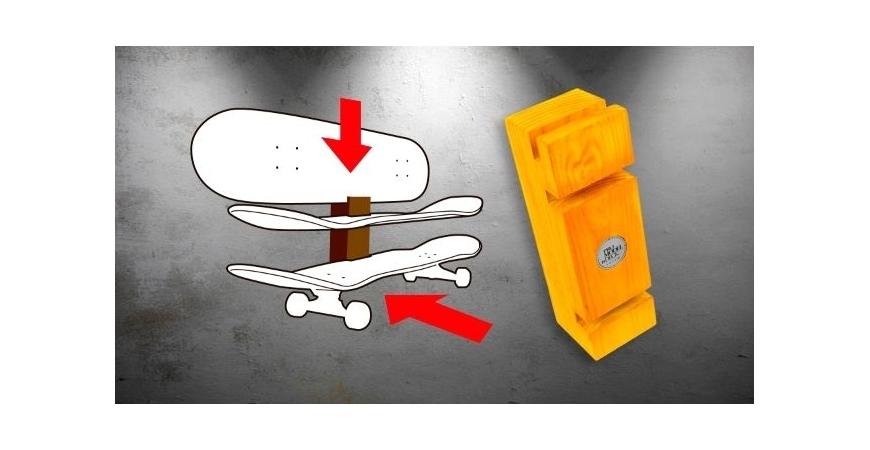 Como pendurar skates na parede com o TOTEM