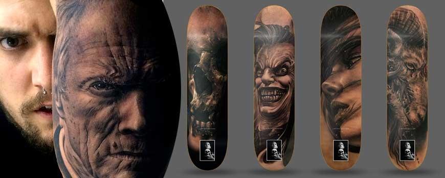 Fredy Exotic Tattoo, la serie limitada de tablas de skate