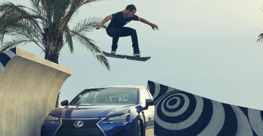 Como o anúncio do Lexus, um skate voador com nitrogênio líquido, foi filmado