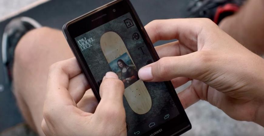 Novo APP Pro Skate Design, projetar o gráfico do seu skate é fácil com este APP