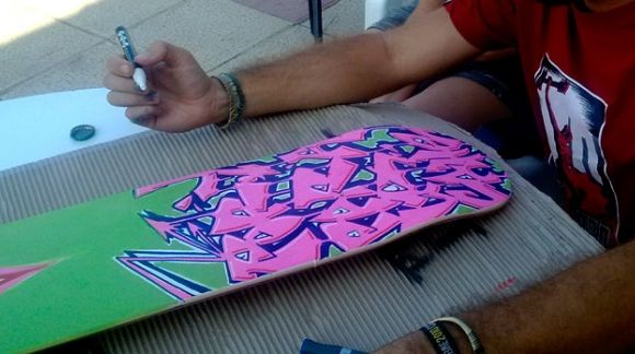 Skate board with surface decoration canvas with digital printing