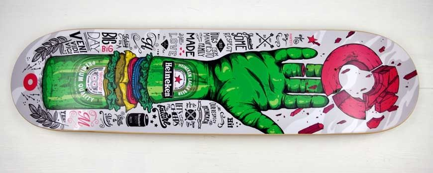 Deck skate personalized , examples