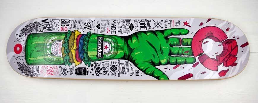 Tabla skate personalizada, ver ejemplos