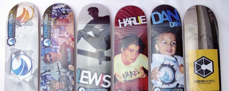 Imprimir skateboards o monopatines, longboard