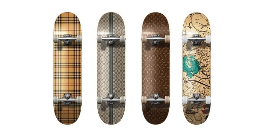 Plataformas de skate longboard e cruiser de edição limitada