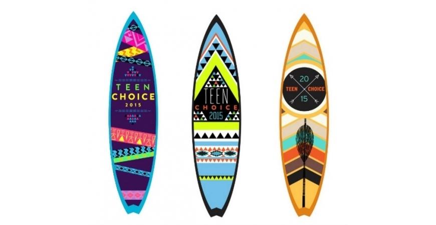 Teen Choice Awards 2015. Troféu de pranchas de surfe